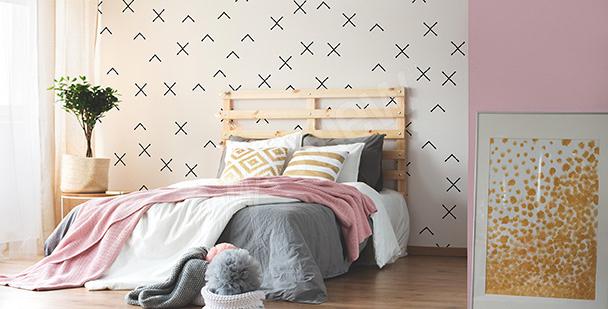 Abstrakte Fototapete für Schlafzimmer