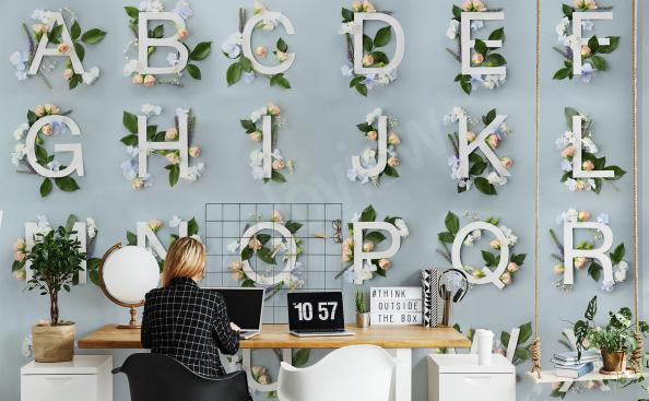 Fototapete mit Alphabet fürs Büro