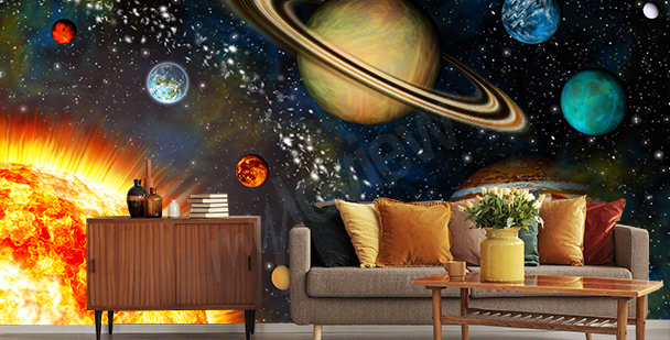 Fototapete 3D-Planeten