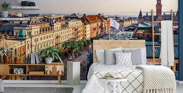 Fototapete mit einer Stadt fürs Zimmer