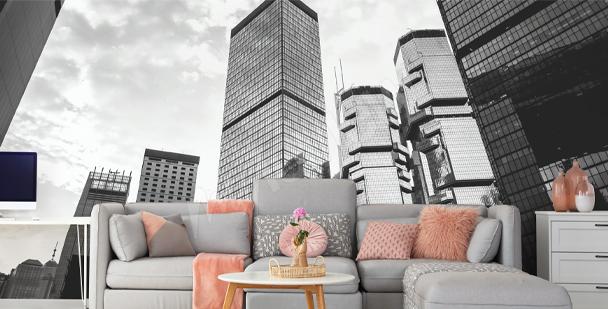 Fototapete mit Gebäuden in Hongkong