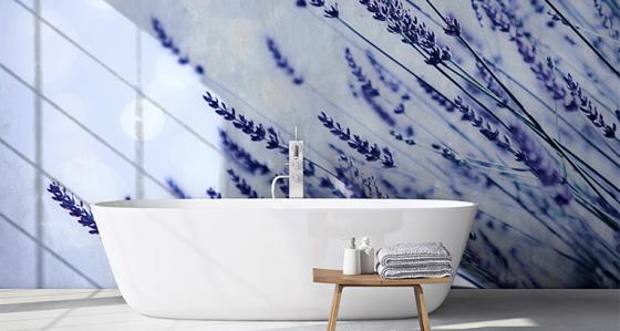 Entspannungszone mit Lavendel-Flair: Fototapete Lavendel