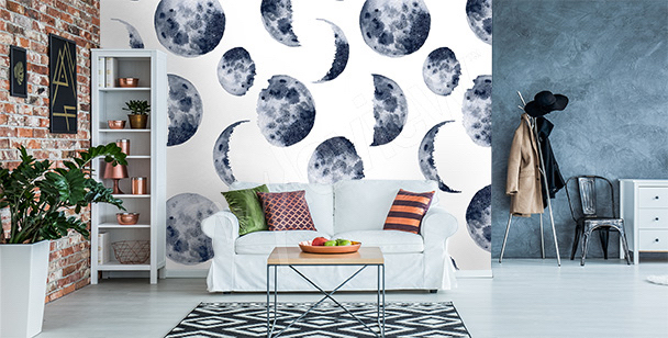 Fototapete Mondphasen