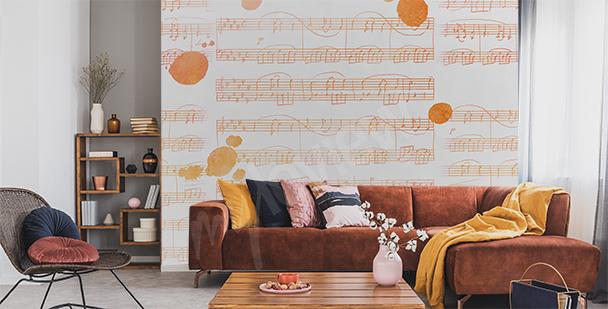Fototapete Musik fürs Wohnzimmer