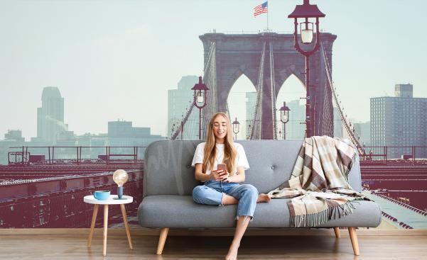 Fototapete New York City fürs Wohnzimmer