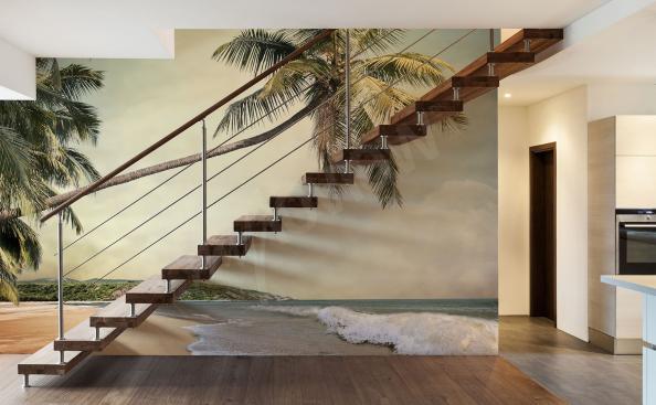 Fototapete Palmen und Meer
