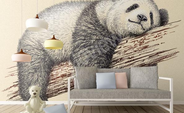 Fototapete Panda auf dem Baum