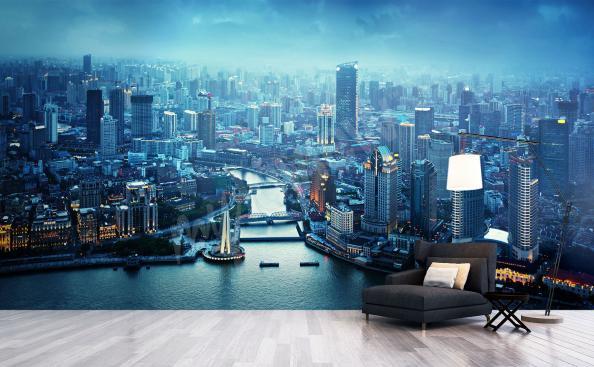 Fototapete Panorama von Shanghai