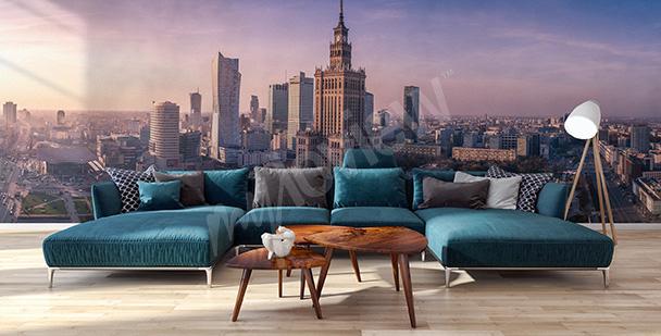 Fototapete Panorama von Warschau