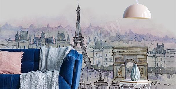 Fototapete Paris Stadtplan