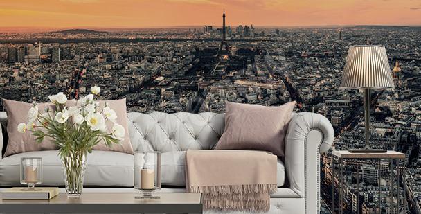 Fototapete Paris bei Sonnenuntergang