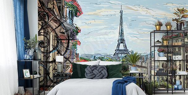 Fototapete Paris fürs Schlafzimmer