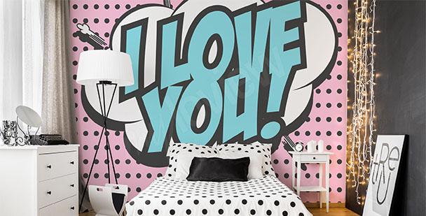 Fototapete Pop Art fürs Schlafzimmer