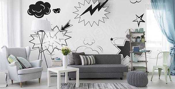 Fototapete Pop Art schwarz-weiß