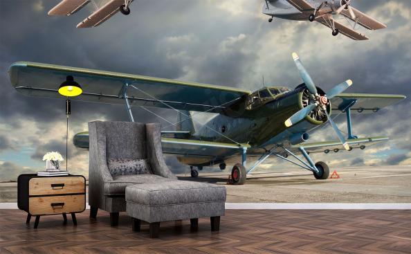 Fototapete retro-Flugzeug
