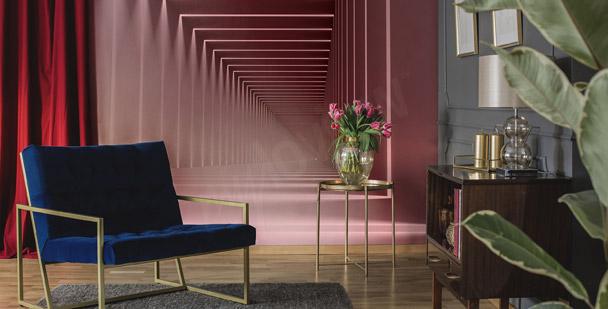 Fototapete rosa Korridor