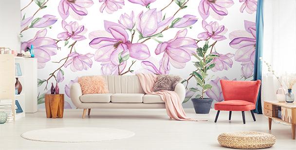 Fototapete weiße Magnolien