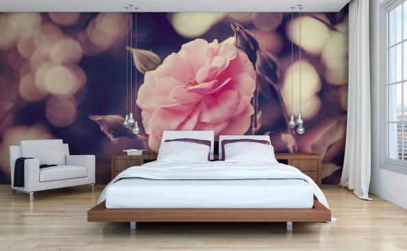 Fototapete Rosen 3D für Schlafzimmer