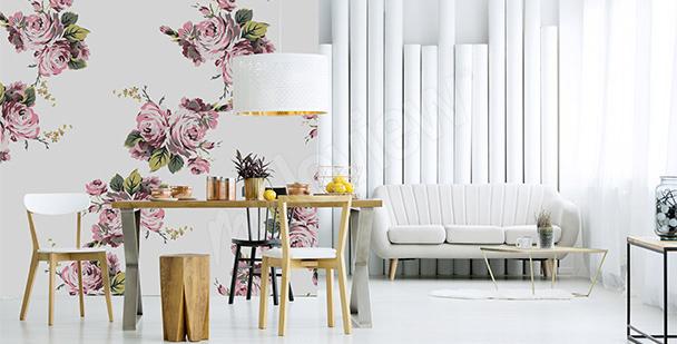 Fototapete Rosen fürs Wohnzimmer
