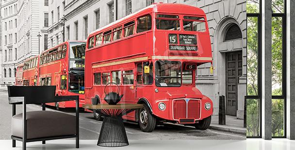 Fototapete roter Bus