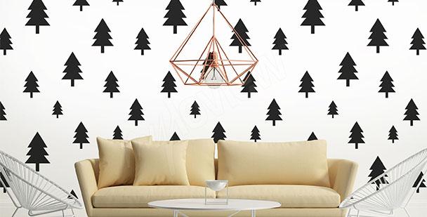 Fototapete Scandi-Stil Bäume