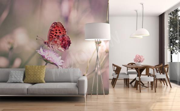 Fototapete Schmetterling auf einer Blume