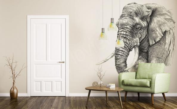 Fototapete Skizze eines Elefanten