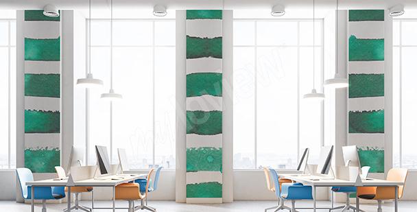 Fototapete smaragdgrüne Streifen