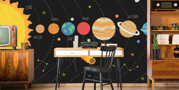 Fototapete Sonnensystem für das Büro