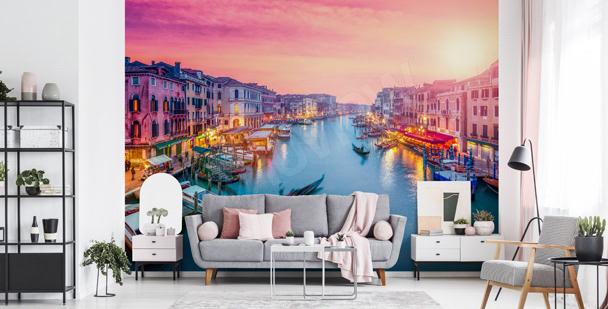 Fototapete Sonnenuntergang in Venedig