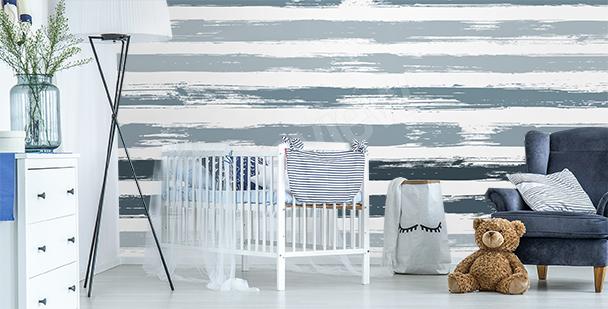 Fototapete Streifen fürs Kinderzimmer