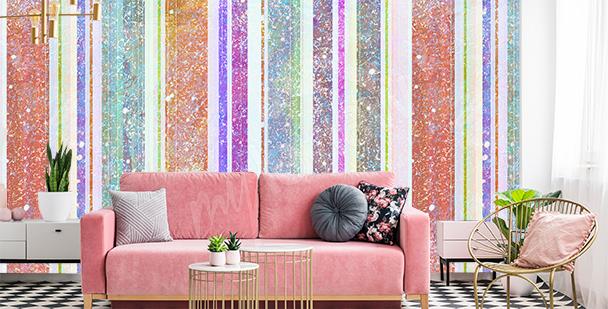 Fototapete Streifen fürs Wohnzimmer