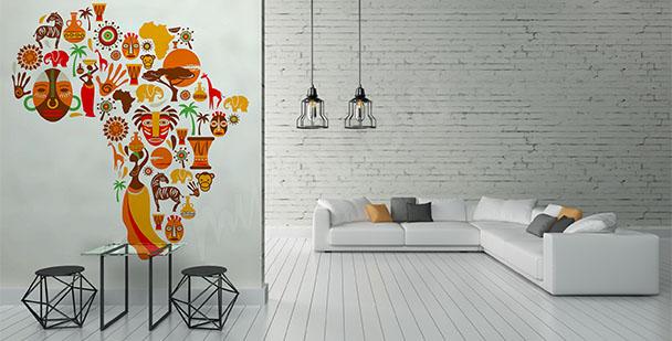 Fototapete Symbole von Afrika