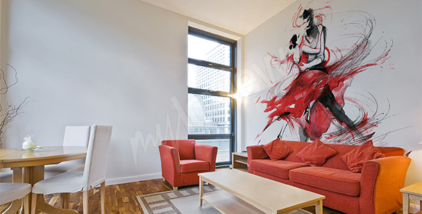Fototapete Tango fürs Wohnzimmer