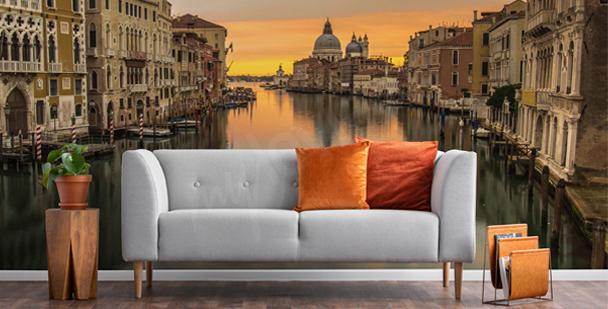 Fototapete Venedig schwarz-weiß
