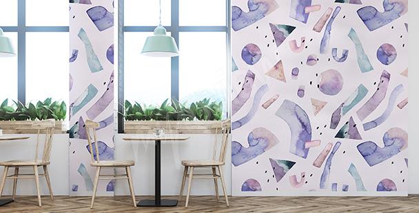Fototapete violette Abstraktion