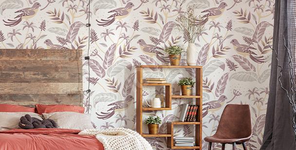 Fototapete Vögel fürs Schlafzimmer