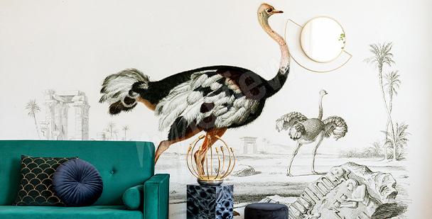 Fototapete Vögel im Glamour-Stil
