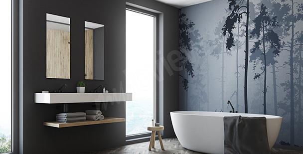 Fototapete Wald fürs Badezimmer