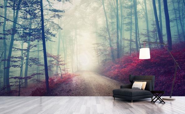 Fototapete Wald im Nebel