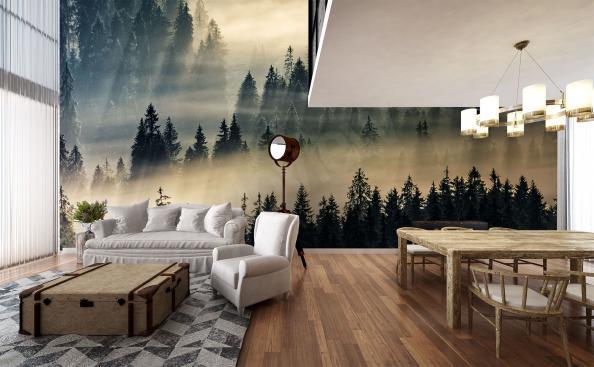 Fototapete Wald in der Ferne