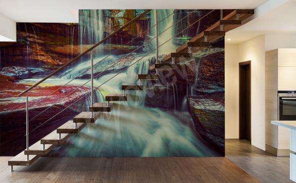 Fototapete Wasserfall fur Treppenhaus