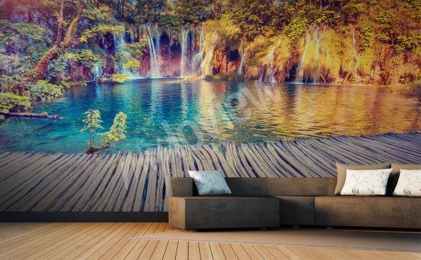 Fototapete Wasserfall fur Wohnzimmer
