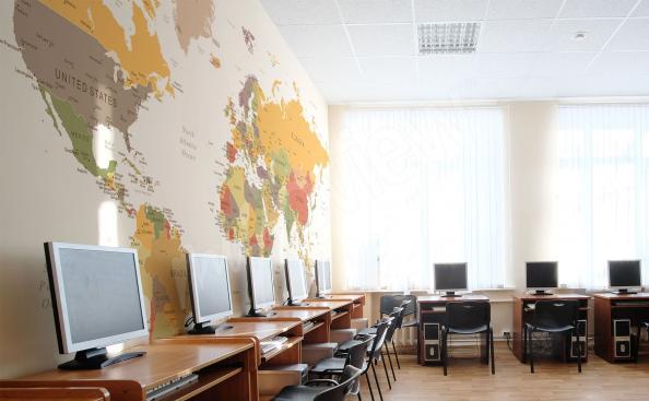 Fototapete Weltkarte für die Sprachschule