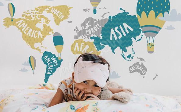Fototapete Weltkarte für ein Kind