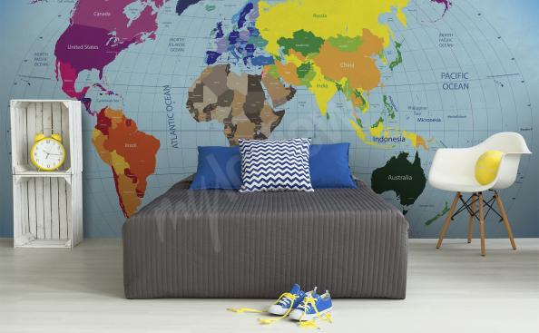 Fototapete Weltkarte Kinderzimmer