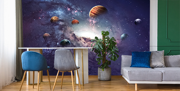 Fototapete Planet fürs Wohnzimmer