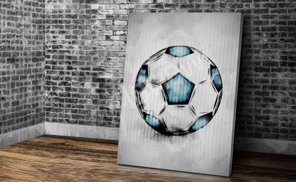 Fußballbild im Jungenzimmer