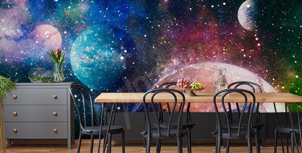 Galaktische Fototapete fürs Esszimmer