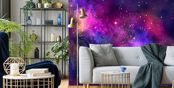 Galaktische Fototapete fürs Wohnzimmer